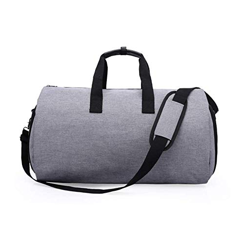 LONGHAIYUAN 2 in 1 Convertible Garment Bag Carry On Travel Suit Bag Sport Duffel Bag with Shoulder Strap Independent Shoe Department