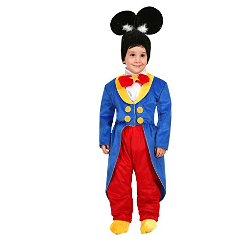 Vestito Costume Maschera di Carnevale Primi Passi - Topolino - Taglia 19/24 Mesi - 68 cm