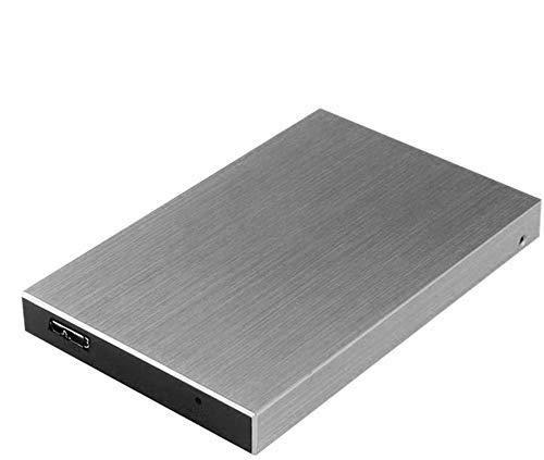 Michelle - Disco Duro Externo portátil USB 3.0 para PC, portátil, Mac, Chromebook, Smart TV Plata 2 TB: Amazon.es: Electrónica