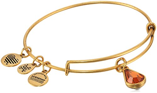 Alex and Ani November Birth Month Charm with Swarovski Crystal Rafaelian Gold Bangle Bracelet