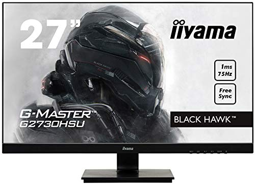 Iiyama GMaster Black Hawk G2730HSUB1 Moniteur Gaming 27' Ful HD 1 ms Freesync 75 Hz VGA/DP/HDMI Hub USB Multimédia Châssis Slim Noir