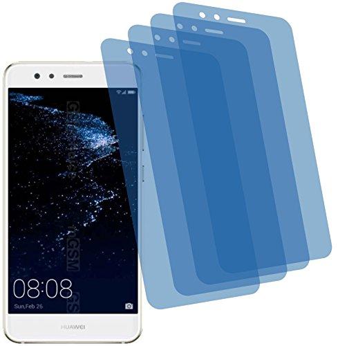 4ProTec I 4X Crystal Clear klar Schutzfolie für Huawei P10 Lite Premium Bildschirmschutzfolie Displayschutzfolie Schutzhülle Bildschirmschutz Bildschirmfolie Folie