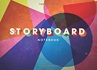 Storyboard Notebook: 8.25 x 6 in, 6 Panel 16:9, Pop Theme
