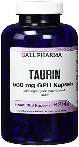 Gall Pharma Taurin 500 mg GPH Kapseln, 1er Pack (1 x 360 Stück)