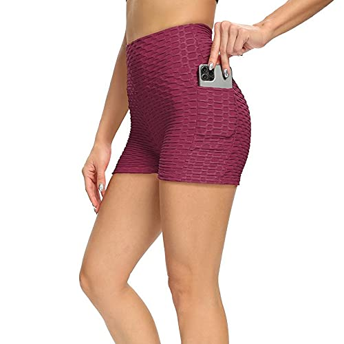 Corumly Pantalones Cortos para Mujer Pantalones Cortos de Yoga Simples y versátiles Pantalones Deportivos Deportivos Europeos y Americanos Pantalones Casuales Atractivos XXL