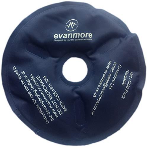 Hot Cold Therapy Disc Pack Gel Wiederverwendbar Flexibel und Eiswärme Verletzungen Knie Ellbogen Knöchel Muskeln Entzündungen Schwellungen Verstauchungen - 15cm Durchmesser