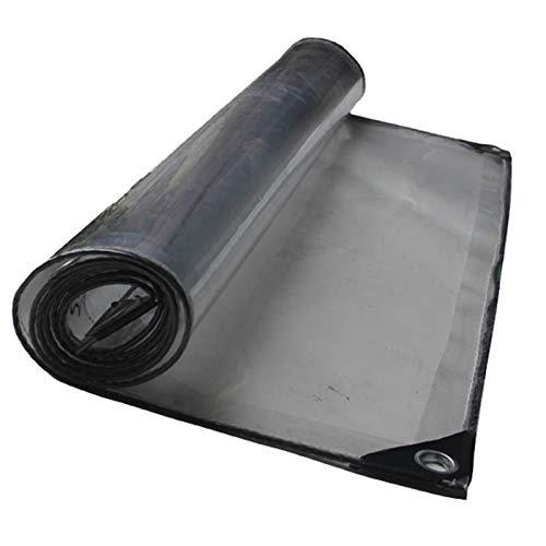 LXF JIAJU Protector Solar a Prueba De Lluvia Rip a Prueba De Poncho Toldo De Lona De PVC Transparente (Color : Clear, Size : 1.25 * 3.1M)