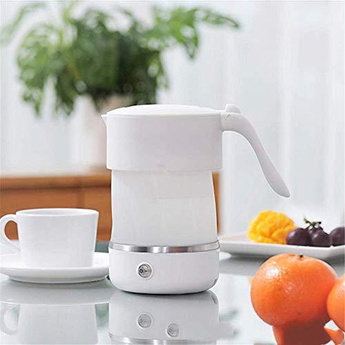 HYISHION Viajes Hervidor eléctrico Hervidor eléctrico portátil del hogar Caldera Caldera Plegable 0.5L-White SKYJIE