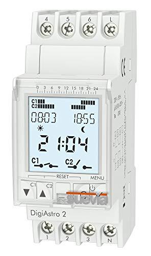 Suevia DigiAstro 2 Hutschienen-Zeitschaltuhr digital 230 V/AC 16 A/250V