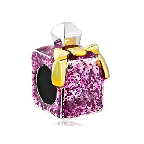925 Plata Pandora Joyería De Moda Diy Charm Estilo Europeo Y Americano Rojo Botella De Perfume Femenina Charm Beads Pulsera Collar Joyería De Lujo Para Mujer