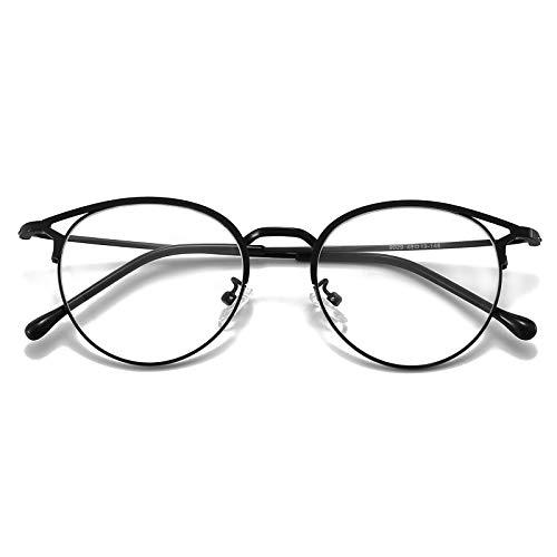 Gafas con filtro de luz azul, antiluz azul, para ordenador, sin graduación, montura de metal, filtro Bluelight Pc Gaming gafas mujer
