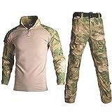 La Ropa De Camuflaje De Combate Táctico Militar RU Uniforme Ropa De Hombre Conjunto del Ejército De EE.UU. Paintball Airsoft Camisa Y Pantalones De Carga No Pads Waistcoat