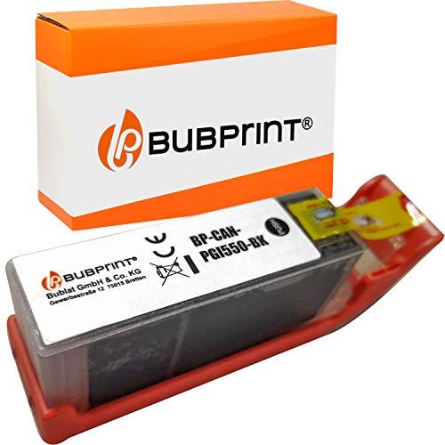 Bubprint Kompatibel Druckerpatrone als Ersatz für Canon PGI 550 XL PGI-550XL PGBK 550XL für Pixma IP7250 IP8750 IX6850 MG5450 MG6450 MG7550 MX920 MX925 Schwarz