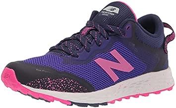 New Balance Fresh Foam Arishi V1 Lace-Up Trail Running Shoe, Deep Violet/Pink Glo/Night Tide, 2 US Unisex Little Kid