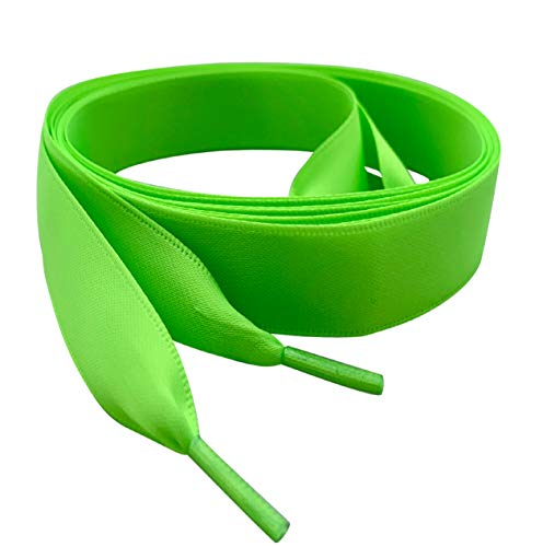 Pimp My Shoes brillante de color verde cinta de satén cordones ideal...