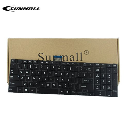 Price comparison product image SUNMALL Keyboard Replacement Compatible with Toshiba Satellite C50-A C55-A C55D-A C55T-A C55DT-A C55DT-A Series Laptop, fits Part Number V143026CS1 132412258 (Do not Fit C50-B,  C50D-B, C55-B