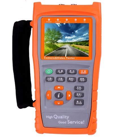 "YXMSCMULTITEC 3.5"" LCD Portátil AHD IP Cámara Prueba Analógica CVBS CCTV Tester UTP Cable Testing PTZ Control Monitor con RS485 Linterna"