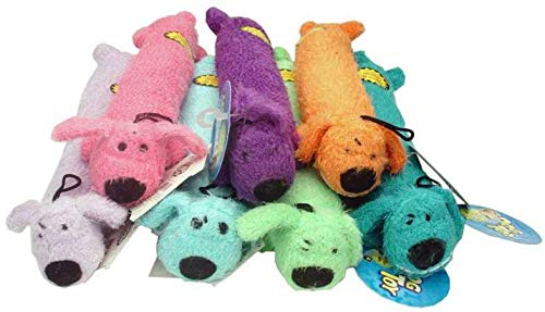 Multipet Loofa Dog 12 Inches (Assorted Colors)