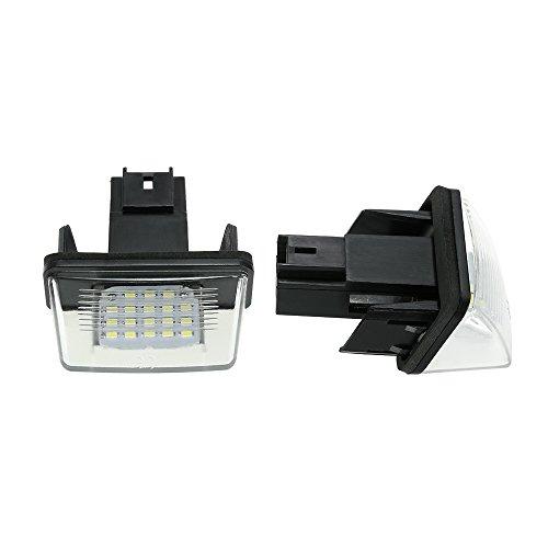 ZTMYZFSL 2 Stück Kennzeichenbeleuchtung, 6000K Xenon-Weiß für Ersatz, Nummernschilder Lampe Plug & Play, 1210 24-SMD Kennzeichen Beleuchtung 12V DC