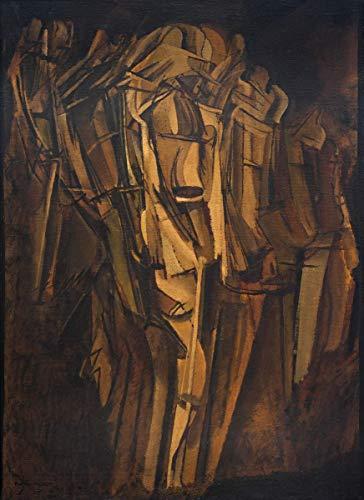 Marcel Duchamp Giclee Auf Leinwand drucken-Berühmte Gemälde Kunst Poster-Reproduktion Wand Dekoration(Aktstudie Trauriger junger Mann auf dem Zug Aktskizze Junger Mann, traurig, dann Zug Peggy) #XFB