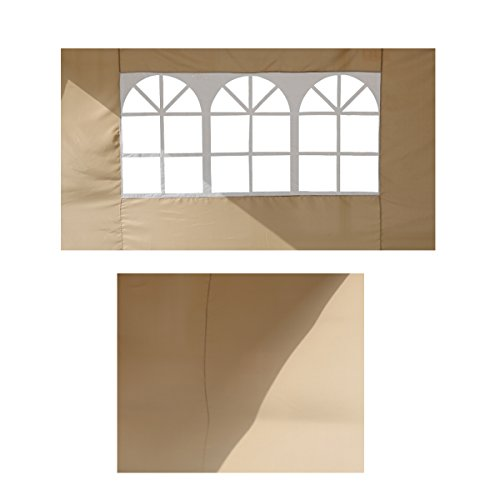 Angel Living 2 Lados Extraíbles para Pabellón Plegable 2.5 x 2.5 m, Carpa Pop-Up Plegable 2.5 * 2.5m con 2 Lados de Telas (Tessuto Beige)
