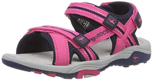 KangaROOS Unisex-Kinder K-Leni Sneaker, Rot (Daisy Pink/Dk Navy 6130), 35 EU