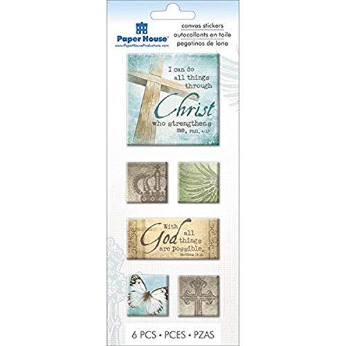 Paper House Faith-Canvas Stickers, Acrylic, Multicolour, 9.39x21.59x0.68 cm