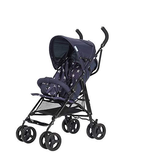 LHJCN Carritos y sillas de Paseo, sillas de Paseo Bebe Ligeras - sillas de Paseo Ligeras Plegables - Cochecito de Bebe Deportivo - Cochecito Plegable, diseño Moderno, Dark Blue