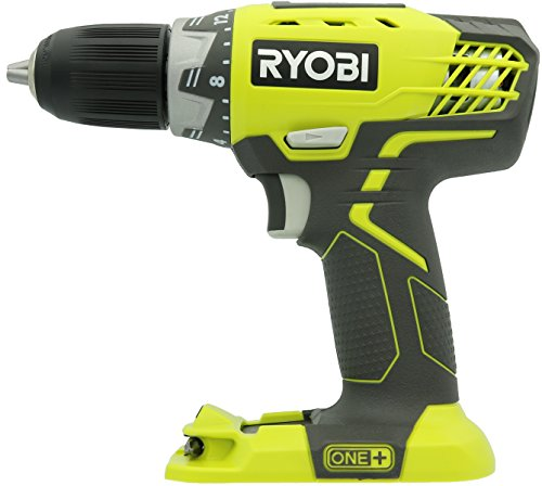 Ryobi P208 One+ 18V Lithium Ion Drill/Driver with 1/2 Inch Keyless...