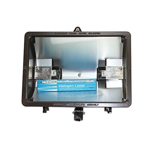 Day-Brite NQF-500Q12-LP NQF Outdoor Flood Light, Quartz Halogen, Security Lighting, 500W, 120V, Bronze
