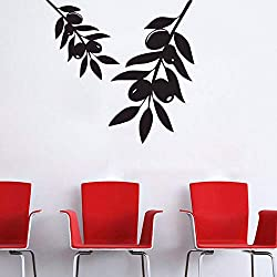 RTFC 59X64Cm Olive Tree Branch Wall Stickers Home Decor Living Room Vinyl Wall Decals DIY Plant Stickers