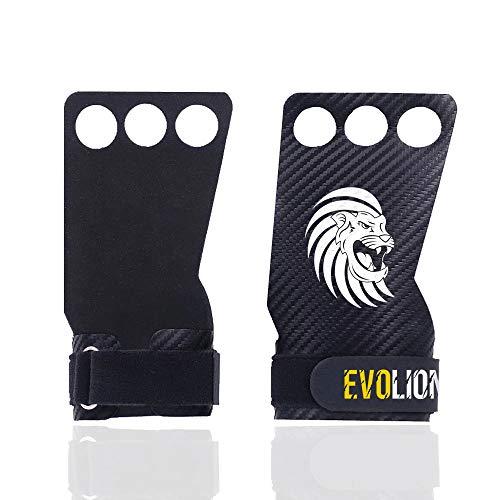 EVOLIONS Carbon Grips, Calleras para Crossfit, Pull Ups Grips, Guantes de Crossfit de Fibra de Carbono