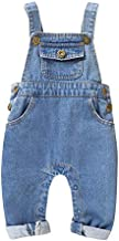 LAPA Baby Girls/Boys Overalls Newborn Denim Romper Ripped Jeans Soft Outfit 3M-24M