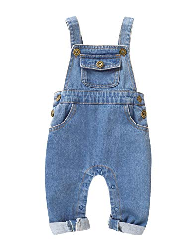 ZAXARRA Toddler Baby Girl Stripes Bell-Bottom Jumpsuit Romper Overalls Long Pants Outfits 2-3 Years, Black