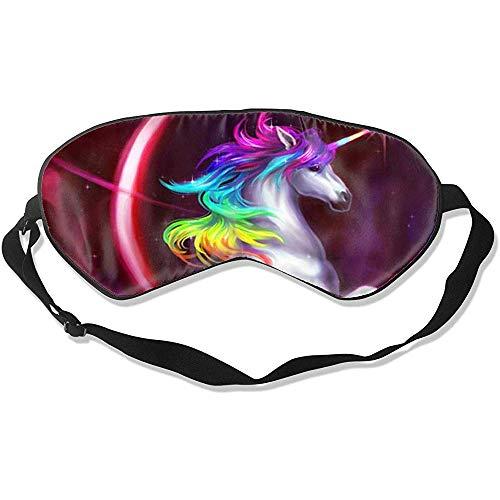 Slaapmasker, regenboog eenhoorn stijlvolle kleurrijke oogstrips voor home yoga meditatie