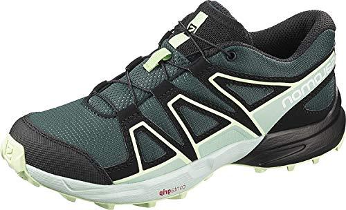 Salomon Kinder Trail Running Schuhe, SPEEDCROSS J, Farbe: grün (Green Gables/Icy Morn/Patina Green), Größe: EU 31