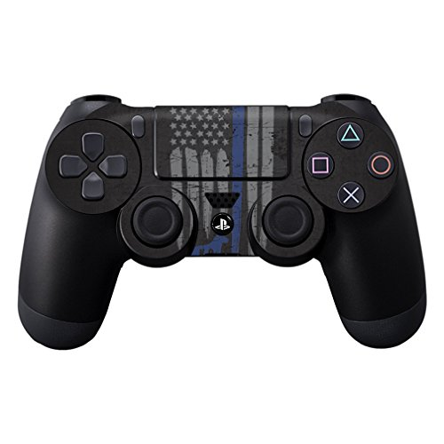 MightySkins Skin Compatible with Sony PS4 Controller - Thin Blue Line K9 | Protective, Durable, and Unique Vinyl Decal wrap Cover | Easy to Apply, Remove, and Change Styles | Made in The USA