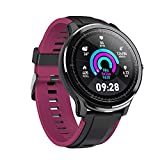 LUWEI Gesundheitsportarten Smart Watch, IP68 wasserdicht Full Touch Screen Fitness Tracker mit Herzfrequenz & Schlafmonitor für Android iOS,Lila