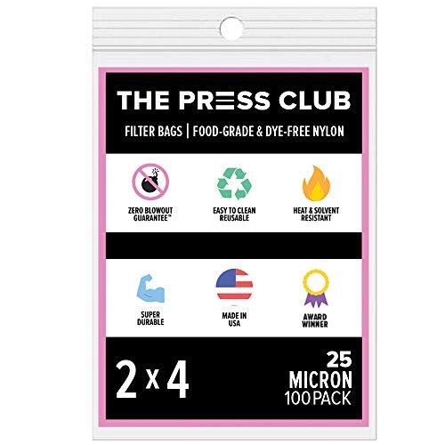 25 Micron | Premium Nylon Tea Filter Press Screen Bags | 2' x 4' | 100 Pack | Zero Blowout Guarantee | All Micron & Sizes Available