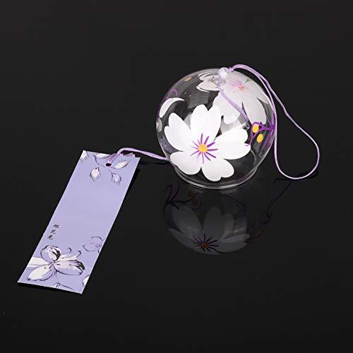 Bebliss Japan Stil Handpaint Sakura Glas Windspiele Wind Glocken Hausgarten Büro Hängende Dekorationen