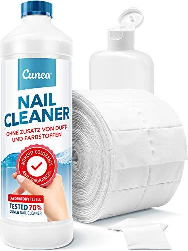 Nail Cleaner für Gelnägel inkl. 500 Zelletten & Dosierflasche - zum entfetten und Reinigen
