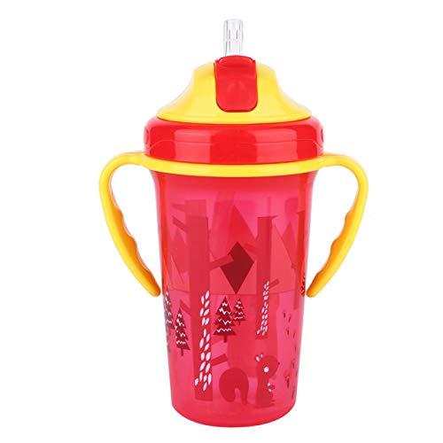 DAUERHAFT Botella de Agua para niños, Botellas de Agua aisladas para niños de 3 Colores, para Viajes, Uso Diario, estacionamiento para Adultos, niños y niños pequeños(Red)