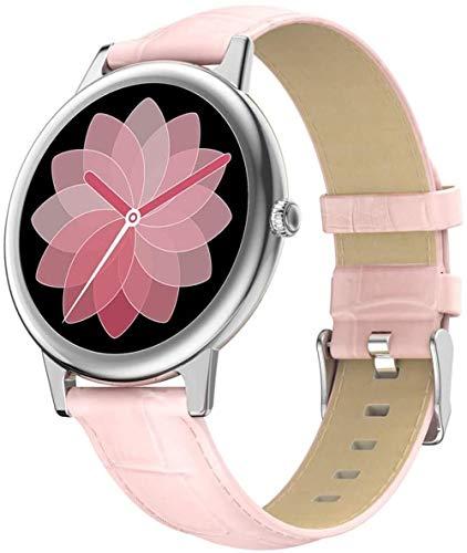 Reloj inteligente para mujer IP68 impermeable pantalla táctil completa Bluetooth multimodo deportivo Smartwatch Tracker Fitness para Android IOS Smart Bracelet F-C