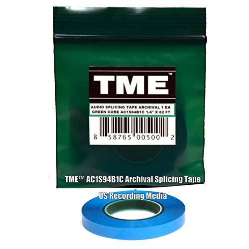 TME Open Reel Audio Splicing Tape Blue Color 1/4