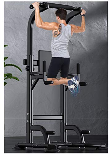 NENGGE Power Tower Adjustable Height Pull Up & Dip Station Multi-Function Home Gym Exercise Tower Dip Stand Professional Strength Training Fitness Equipment, Support Up to 400kg