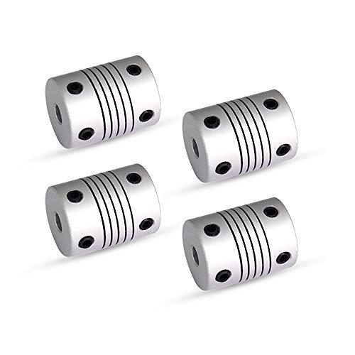 Anet 4Pcs Impresora 3D Acoplamiento flexible Acoplador del acoplador 5mm a 8mm Diámetro interno CNC Motor Acoplamientos del eje de la mandíbula para RepRap Anet A8 A6 Ender 3 Impresora 3D Máquina CNC