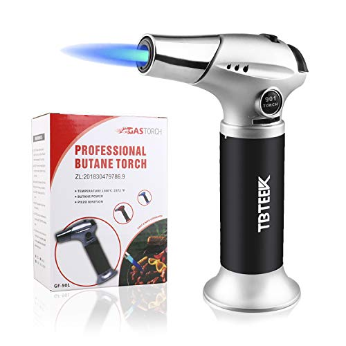 TBTEEK Butane Torch, Kitchen Torch Cooking Torch with Safety Lock & Adjustable Flame for Cooking,...