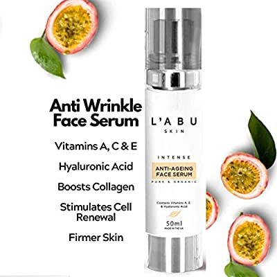 PREMIUM Vitamin C Hydrating Face Serum With Hyaluronic Acid 50ml | Anti Ageing |Collagen Boosting Formula | Reduces Fine Lines And Wrinkles | Pure and Organic |Vegan from The Luminaire Clinic