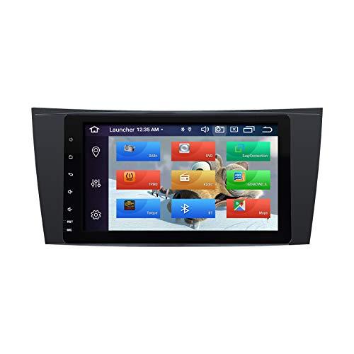 ZLTOOPAI Lettore multimediale per auto per Mercedes Benz Classe E W211 CLS W219 W463 Android 10 Octa Core 4G RAM 64G ROM 8 pollici IPS Schermo Doppio Din in Dash Autoradio Audio Navigazione stereo GPS