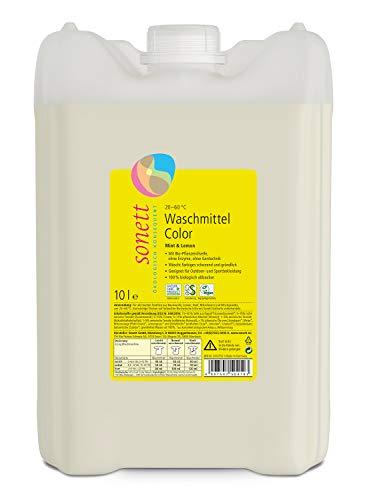 Waschmittel Color: Duft von Bio-Minzöl und Bio-Lemongrassöl, 100% biologisch abbaubar